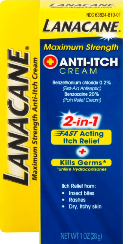 LANACANE® Anti-Itch Cream - Maximum Strength
