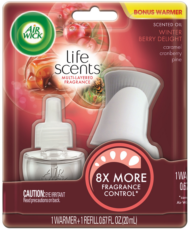 AIR WICK® Scented Oil Starter Kit - Winter Berry Delight (Life Scents™)