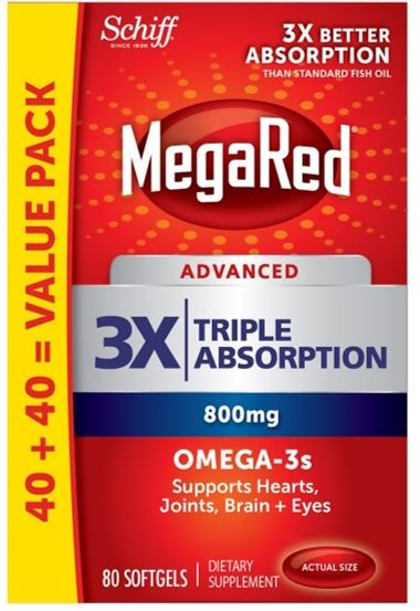 MegaRed® Advanced Triple Absorption Omega-3s - 800 mg Softgels