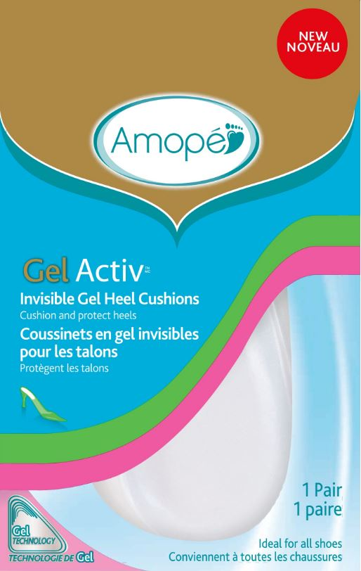 AMOPE® GelActiv™ Invisible Gel Heel Cushions
