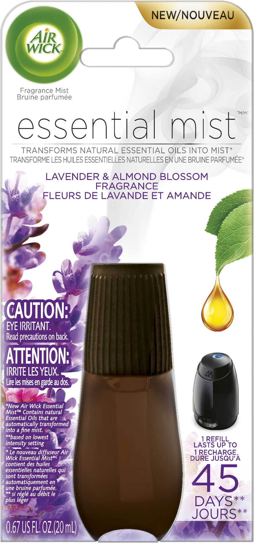 AIR WICK® Essential Mist - Lavender and Almond Blossom (Canada)