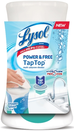 LYSOL POWER  FREE Tap Top MultiPurpose Cleaner  Oxygen Splash Photo