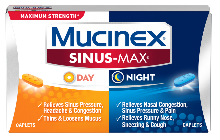 MUCINEX® SINUS-MAX® Day & Night Caplets (Night)
