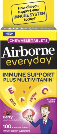AIRBORNE Everyday Chewable Tablets  Berry Photo