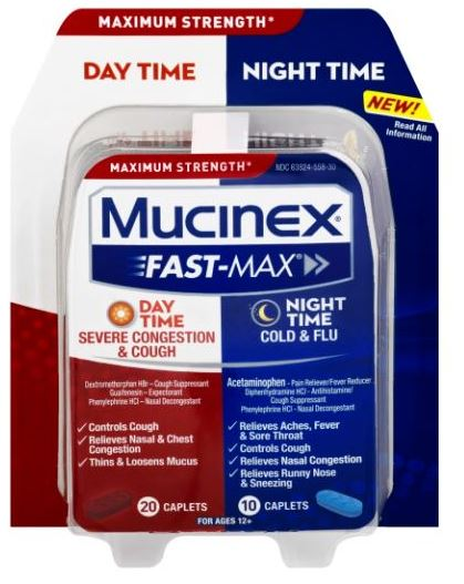 MUCINEX® FAST-MAX® Caplets - Day Night Severe Congestion & Cough (Day)