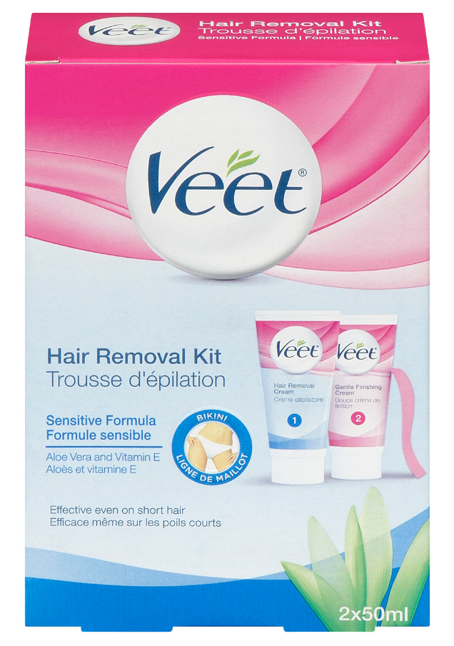 Veet Hair Removal Kit Sensitive Skin Bikini Finishing Cream