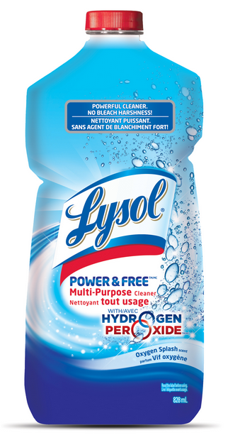 LYSOL POWER  FREE MultiPurpose Cleaner  Pourable  Oxygen Splash Canada Photo