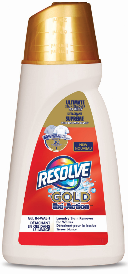 RESOLVE® Gold Oxi-Action™ Gel In-Wash Laundry Stain Remover for Whites (Canada)