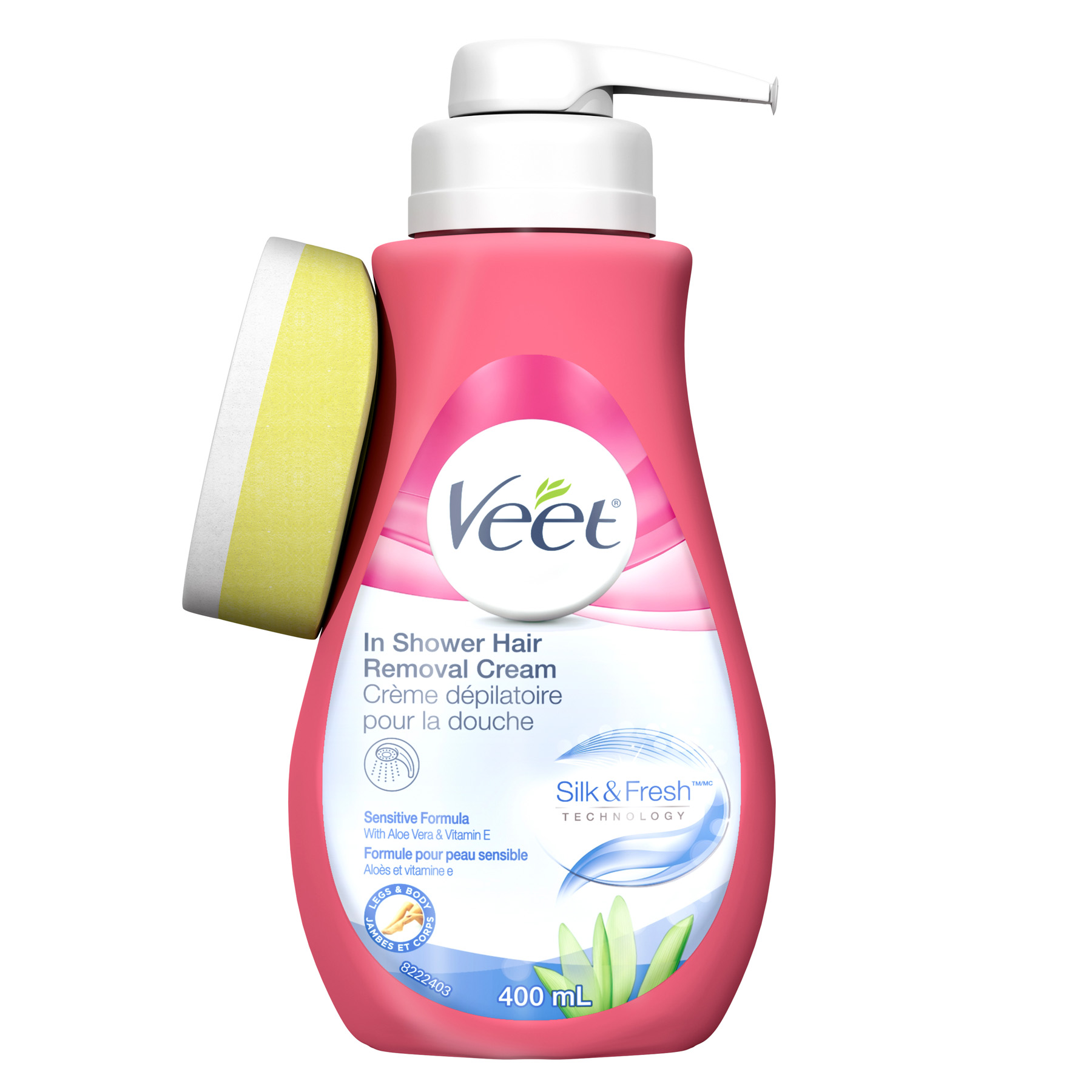 VEET® Silk & Fresh™ In Shower Hair Removal Cream - Sensitive Formula (Canada)