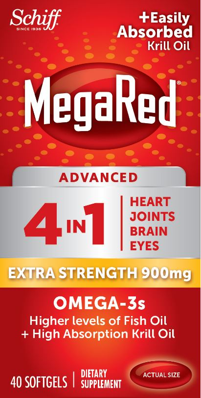 MegaRed Advanced 4 In 1 Extra Strength Omega3s  900 mg Softgels Photo