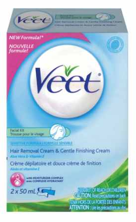 VEET® Face Hair Removal Kit - Sensitive Formula - Gentle Finishing Cream (Canada)