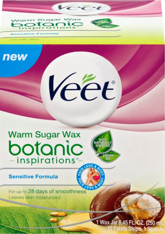 VEET Botanic Inspirations Warm Sugar Wax  Sensitive Formula Photo