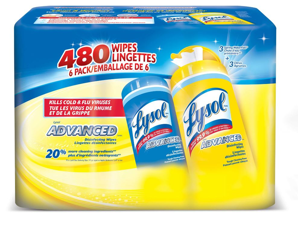 LYSOL® ADVANCED™ Disinfecting Wipes - Citrus (Canada)