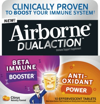 AIRBORNE Dual Action Effervescent Tablets  Citrus Photo
