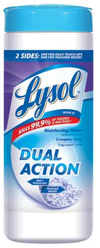 LYSOL Dual Action Disinfecting Wipes  Crisp Linen Photo
