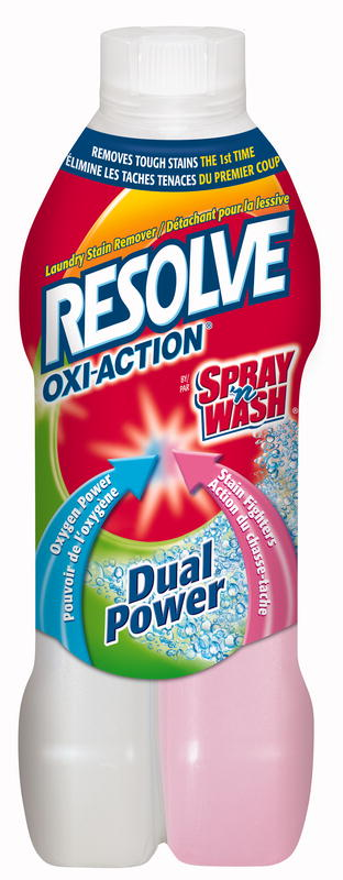 RESOLVE® Oxi-Action® Dual Power™ Pre-Treat Laundry Stain Remover - Pink Side (Canada)