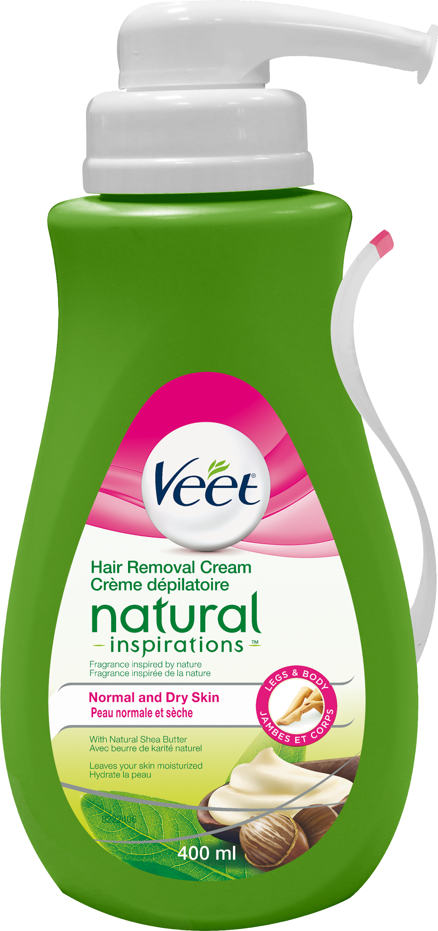 VEET® Natural Inspirations™ Hair Removal Cream - Normal & Dry Skin pump (Canada)