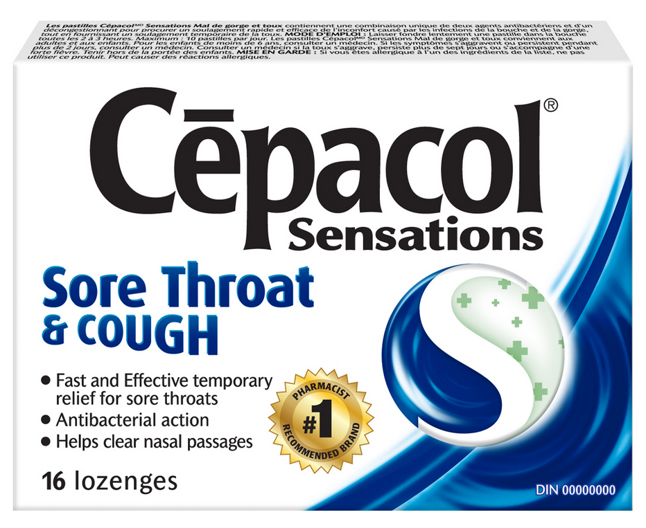 CEPACOL® Sensations Sore Throat & Cough Lozenges (Canada)