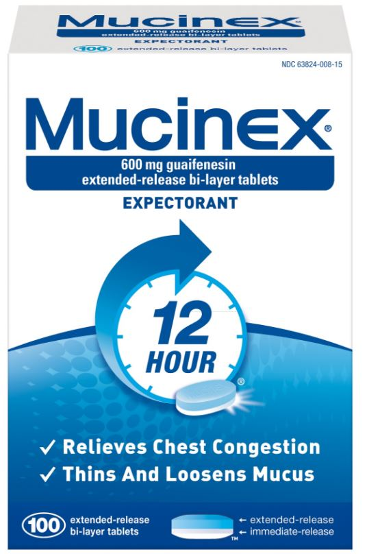 MUCINEX® 12 Hour SE - 600 mg Guaifenesin