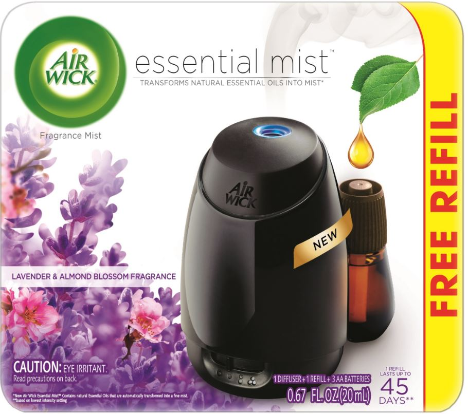 AIR WICK Essential Mist Starter Kit  Lavender  Almond Blossom Photo
