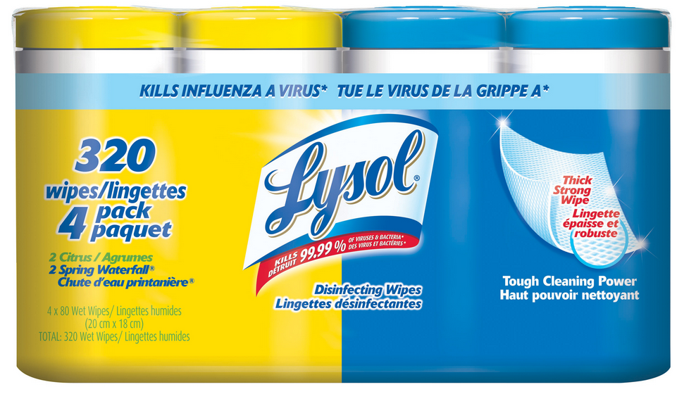 LYSOL Disinfecting Wipes  Citrus  Spring Waterfall Combo Pack Canada Photo