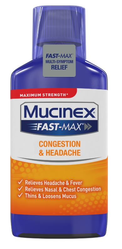 MUCINEX® FAST-MAX® Adult Liquid - Congestion & Headache