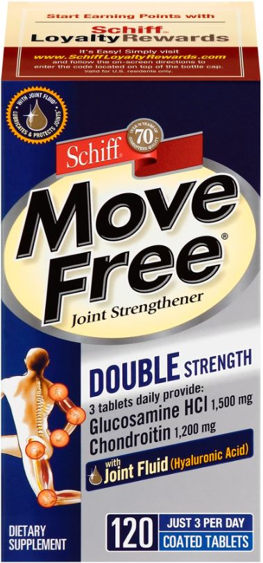 MOVE FREE Joint Strengthener Glucosamine HCl and Chondroitin Tablets Photo