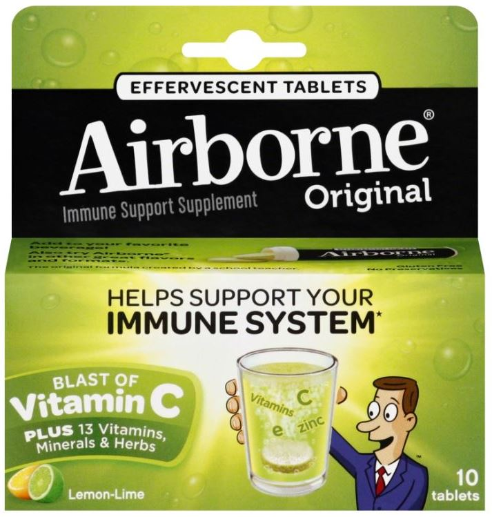 AIRBORNE® Original Effervescent Tablets - Lemon Lime