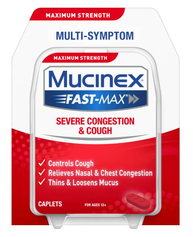MUCINEX FASTMAX Caplets  Severe Congestion  Cough Photo
