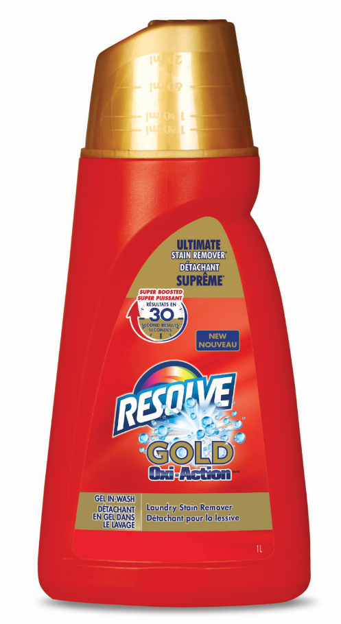 RESOLVE® Gold Oxi-Action™ Gel In-Wash Laundry Stain Remover (Canada)