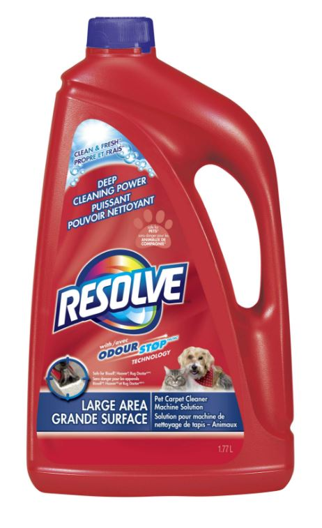RESOLVE Clean  Fresh Large Area Pet Carpet Cleaner Machine Solution Canada Photo