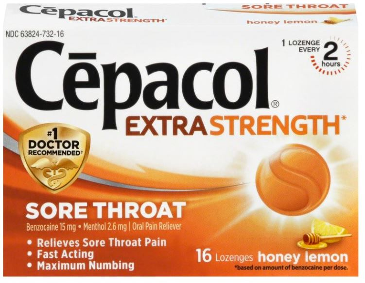 CEPACOL® Extra Strength Sore Throat Lozenges - Honey Lemon