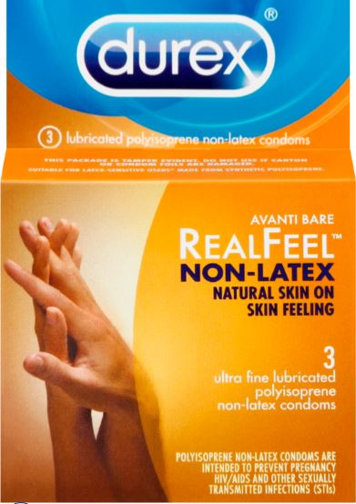 DUREX® Avanti Bare® RealFeel™ Non-Latex Condoms