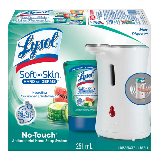 LYSOL NoTouch Hand Soap  Hydrating Cucumber  Watermelon Canada Photo