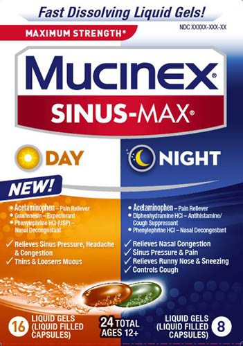 MUCINEX® SINUS-MAX® Liquid Gels (Day)