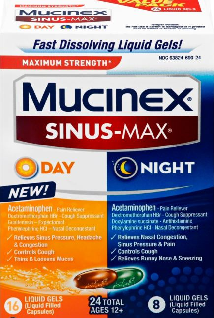 MUCINEX® SINUS-MAX® Liquid Gels (Night)
