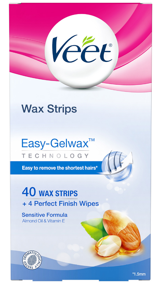 VEET® Easy-Gelwax™ Wax Strips Kit - Sensitive Formula - Wipes (Canada)