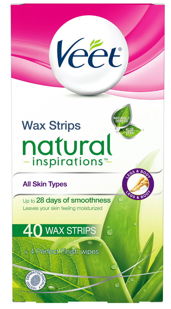 VEET® Natural Inspirations™ Wax Strips Kit - Legs & Body - Wax Strips (Canada)