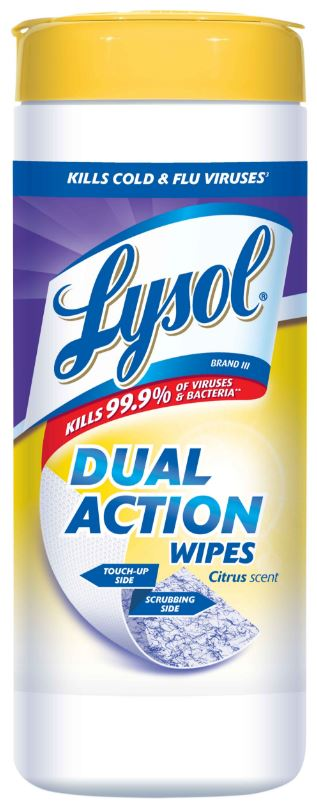LYSOL Dual Action Disinfecting Wipes  Citrus Photo