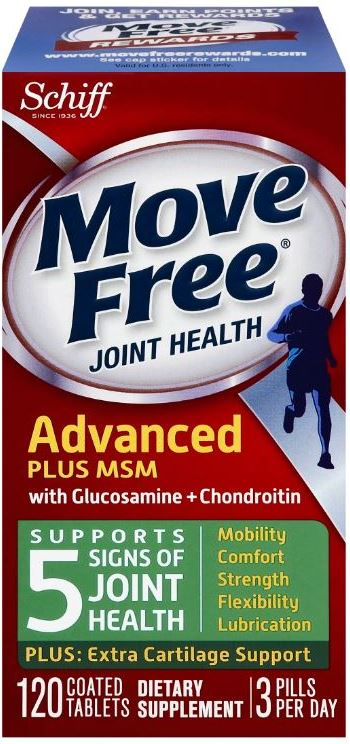 MOVE FREE® Advanced Plus MSM with Glucosamine + Chondroitin Tablets