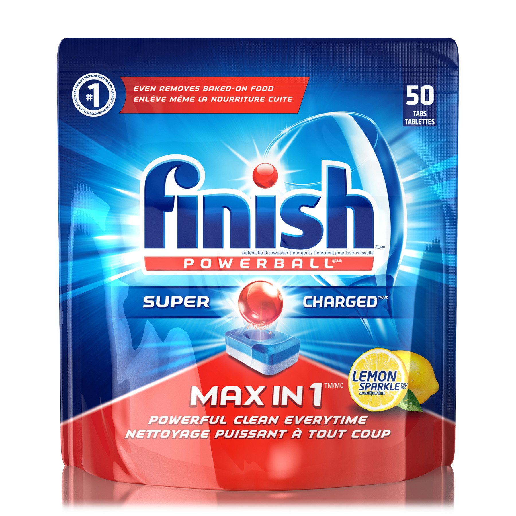 FINISH Powerball Max In 1 Lemon Sparkle Tablets Canada Photo