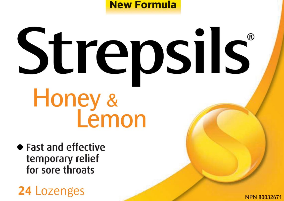 STREPSILS Sore Throat Lozenges Honey  Lemon Canada Photo