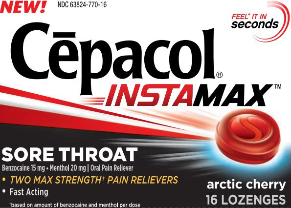 CEPACOL® Instamax Sore Throat Lozenges - Arctic Cherry