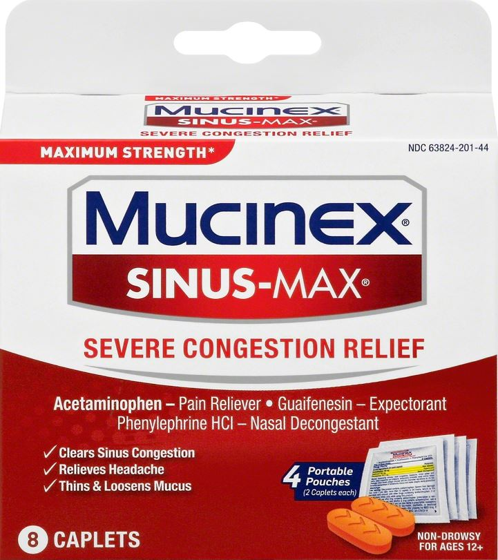 MUCINEX SINUSMAX Severe Congestion Relief Caplets Photo