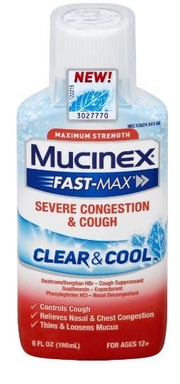 MUCINEX® FAST-MAX® Clear & Cool Adult Liquid - Severe Congestion & Cough