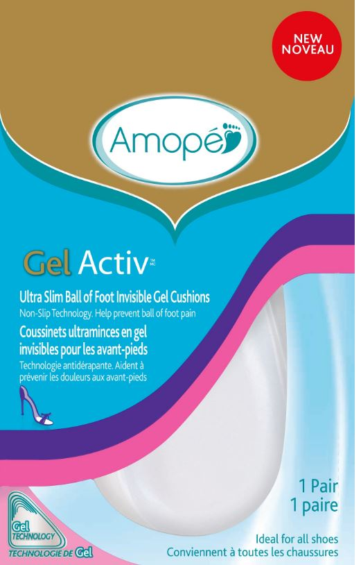 AMOPE® GelActiv™ Ultra Slim Ball of Foot Invisible Gel Cushions