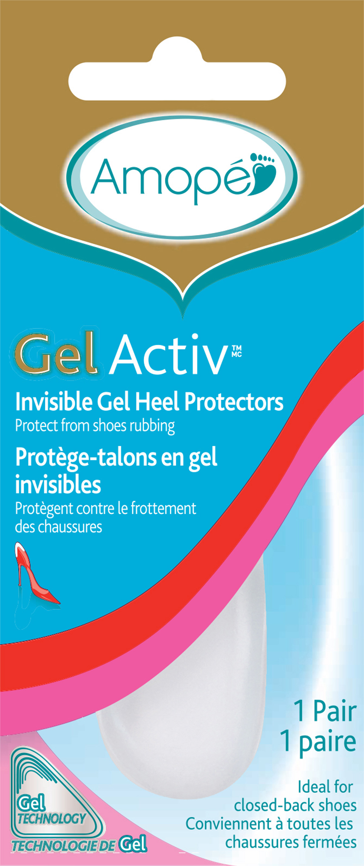 AMOPE GelActiv Invisible Gel Heel Protectors  Photo