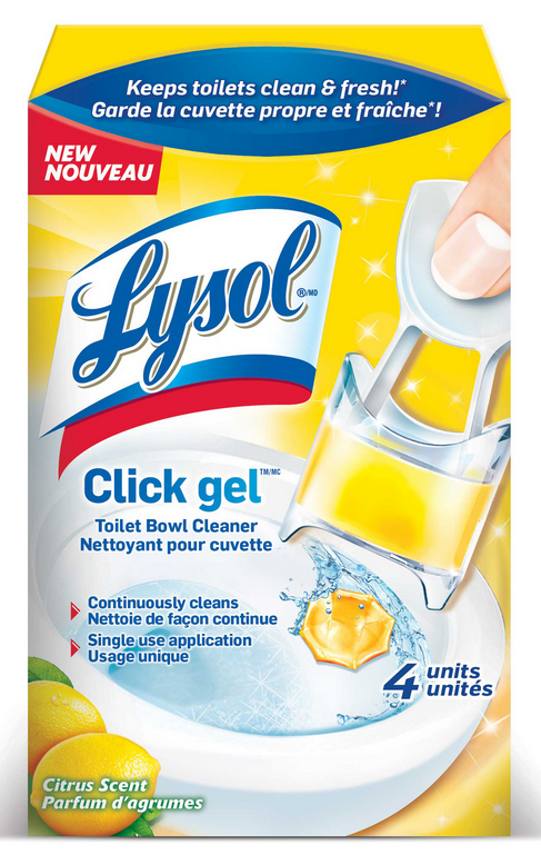 LYSOL® Click Gel Automatic Toilet Bowl Cleaner - Citrus Scent (Canada)