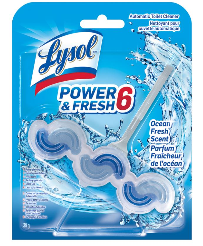 LYSOL® Automatic Toilet Cleaner Power & Fresh 6 - Ocean Fresh (Canada)