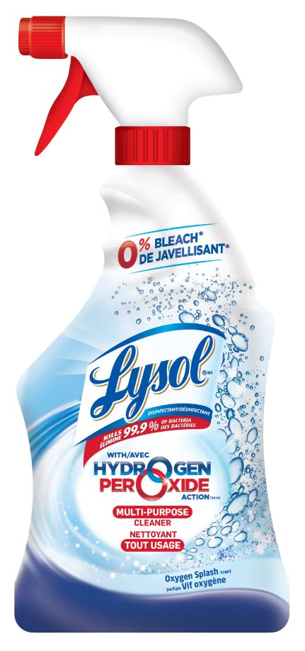 LYSOL Hydrogen Peroxide Action MultiPurpose Cleaner  Oxygen Splash Canada Photo